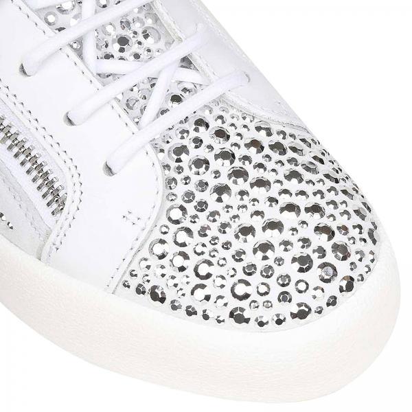 Blanco Primavera verano Zanotti Zapatillas Mujer 2019 Design Giuseppe Rw80066giglio xYAI1A