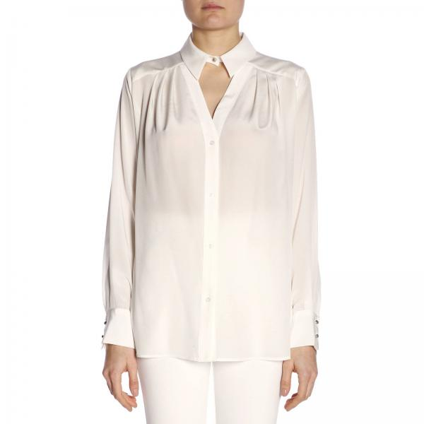 Centrale Camicia Donna Con 7312 1g1400 E Ampia Colletto PinkoBasic Spacco WoxBdCre