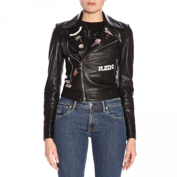 939563c5341 Philipp Plein Women's Black Jacket | Jacket Women Philipp Plein ...