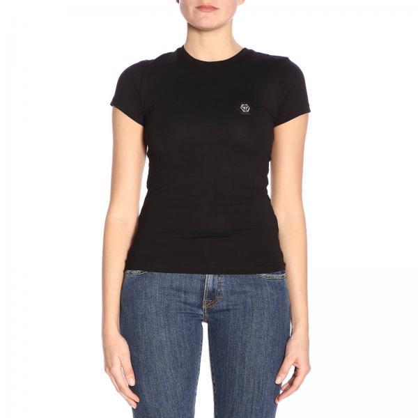 shirt E Maniche Unicorno A Logo Maxi Con Corte T Philipp Plein O08wnPk