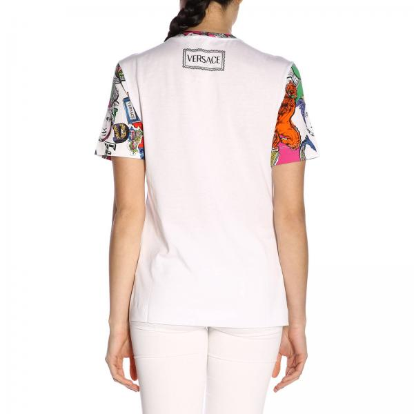 Primavera Versace Mujer Jersey Blanco 2019 A229240giglio A82256 verano BXW4qwTU