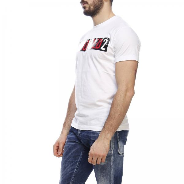 shirt Stampa T Con Dsquared2 A Corte Maxi Maniche 4qc5ASR3jL