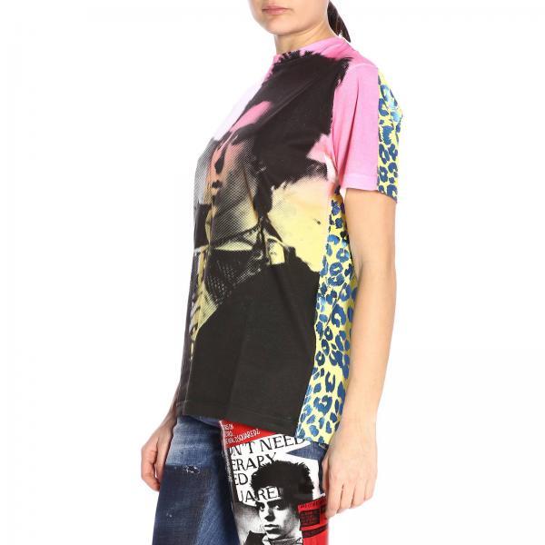 2019 verano S75gd0001s22427giglio Mujer Primavera Camiseta Dsquared2 Fantasía xTCYwCqX