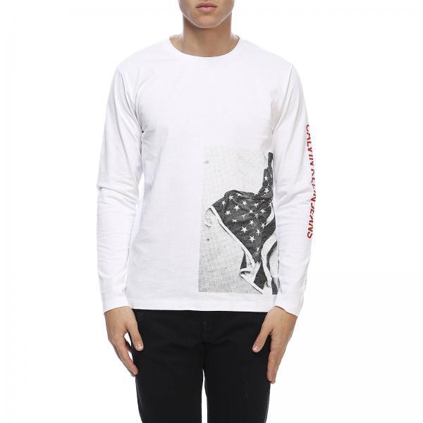 T A Maniche Lunghe Stampa shirt Con E Bandiera Logo rBQdeWoCx