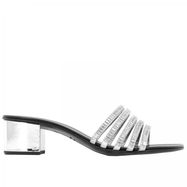 9c97bd1b4 Giuseppe Zanotti Design Women s Silver Heeled Sandals