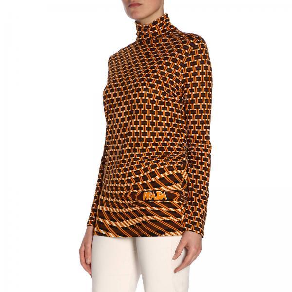 verano 39487 Camiseta Mujer Amarillo 1s8ogiglio 2019 Prada Primavera gqx61wS8