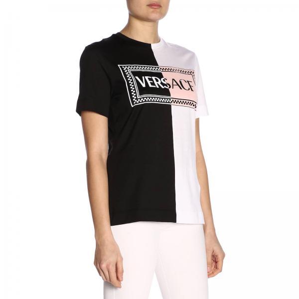 Mujer Versace Primavera 2019 verano A201952giglio Jersey A82248 Negro qSxdC