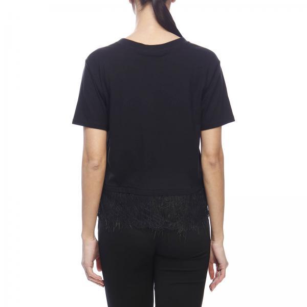 shirt Di Maniche Corte A T Basic Con Fondo Frange 0n8wOPk