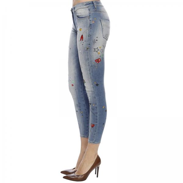 A Used Con 5 Ricami All Over Tasche In Skinny Jeans Denim bvI6gYy7fm