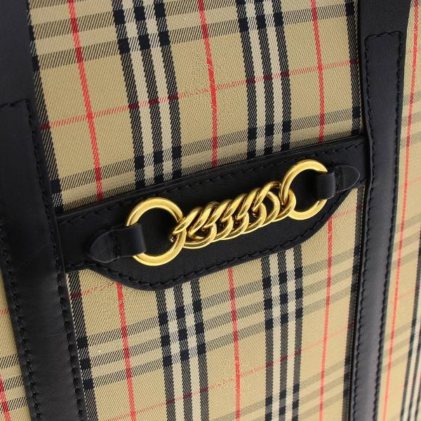In A E Zip Borsa 8006437 Burberry Pelle Check Spalla Medium NeroLink Donna Tote Tessuto xBedoWQCEr