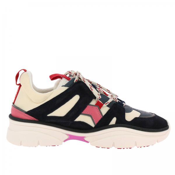 In Runner E Sneakers Con Suola Marant Gomma Over Stringata Nylon Isabel Maxi Pelle rdBoCxWe