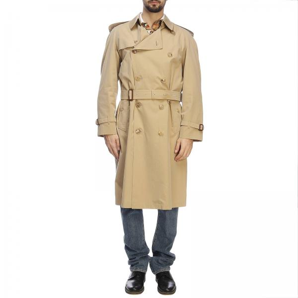 Trench coat Westminster lungo in gabardine impermeabile con interni check Burberry