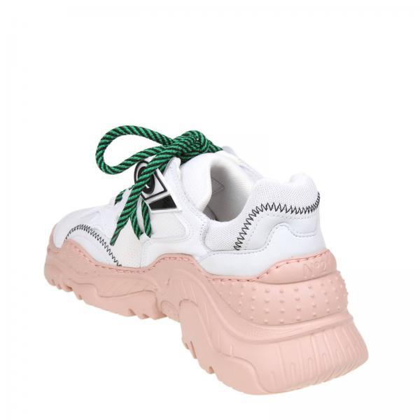 Maxi Stringata E N° Tessuto Pelle Oversize Suola Gomma Con Stretch In 21 Sneakers tsCxdhrQ