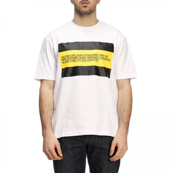 ef4e600c5a27 Calvin Klein Jeans Established 1978 Men's White T-shirt   T-shirt ...