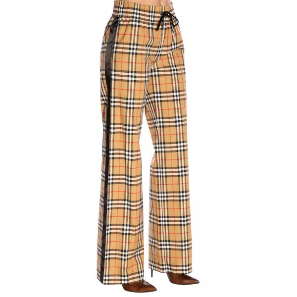 Primavera 2019 8003208giglio Pantalón Burberry verano Camel Mujer 6IqYHO