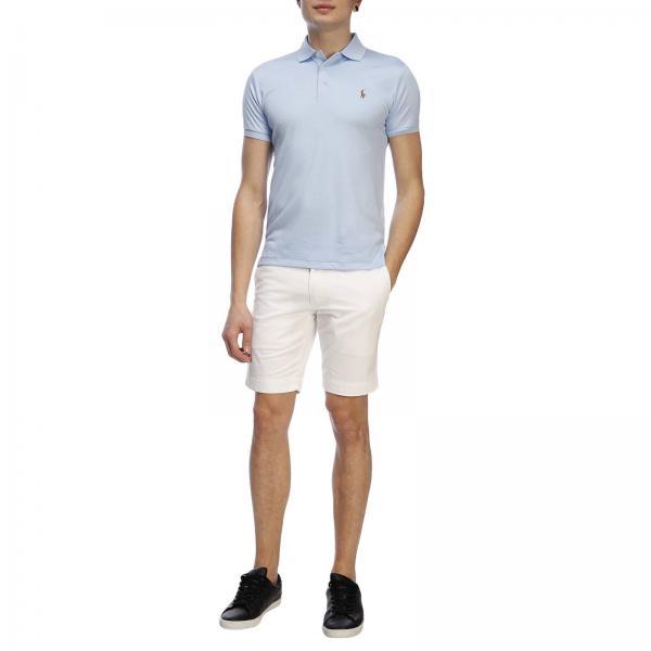 Maniche Cotone Polo Fit Slim Con Ralph Logo Nido Ricamato D'ape Corte A Lauren In POkX8wn0