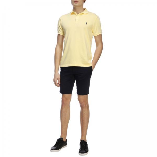 Polo Con Corte shirt Maniche In Uomo LaurenA Logo Cotone Ralph T Ricamato 710660897 ybfgvY7mI6
