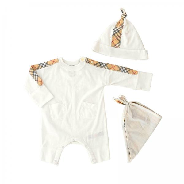42ddbc1d33a Burberry Infant Little Boy s White Clothing Set