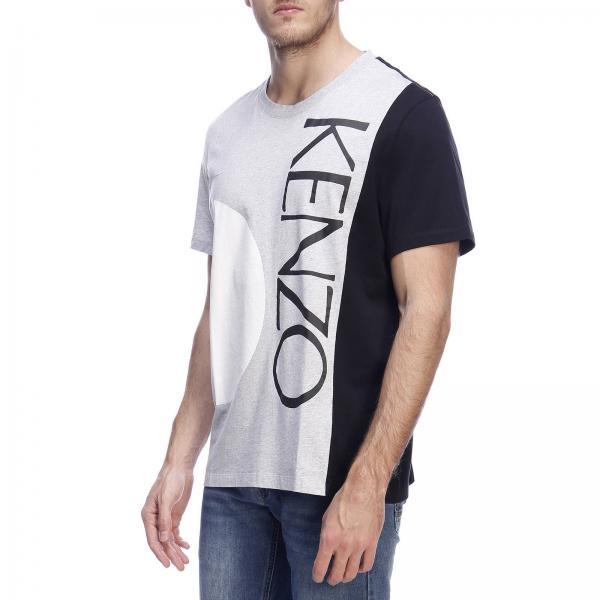 By Maniche T Paris Stampa Logo F955ts2044sg Cotone KenzoA shirt Uomo Con In Corte g6Yybf7v