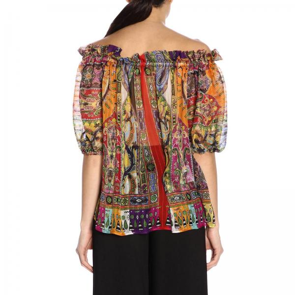 Primavera 4383giglio 15007 Mujer Camiseta verano Etro 2019 Fucsia wOIXZqR