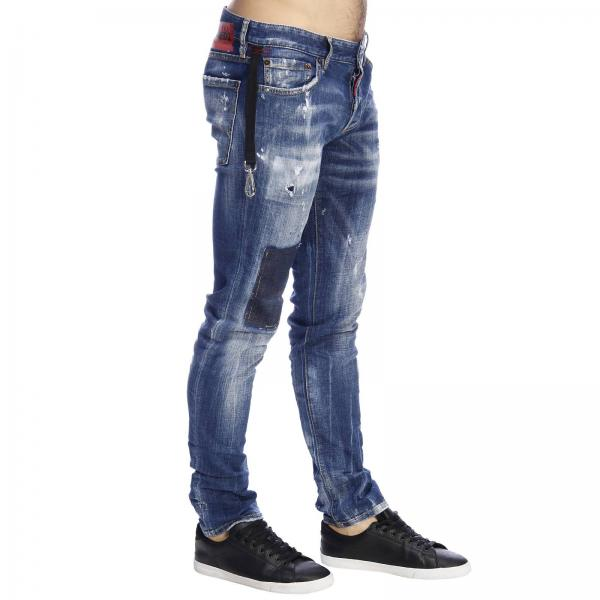 Jeans 5 Stretch E Tasche Con Toppe Rotture A Used yNwm0Ov8n