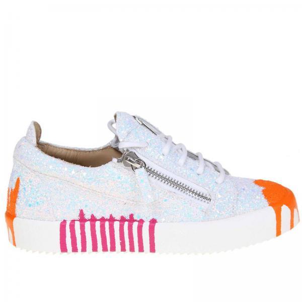 Mujer Zanotti verano Primavera Rs90006giglio Design Blanco Giuseppe 2019 Zapatillas dTCnqd