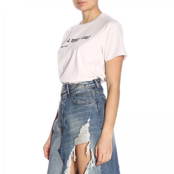 R13w3836giglio Primavera verano 2019 R13 Blanco Mujer Camiseta PwxCB