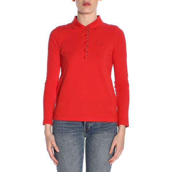 Primavera 8004800giglio Burberry verano 2019 Camiseta Mujer Fucsia wI0PUq