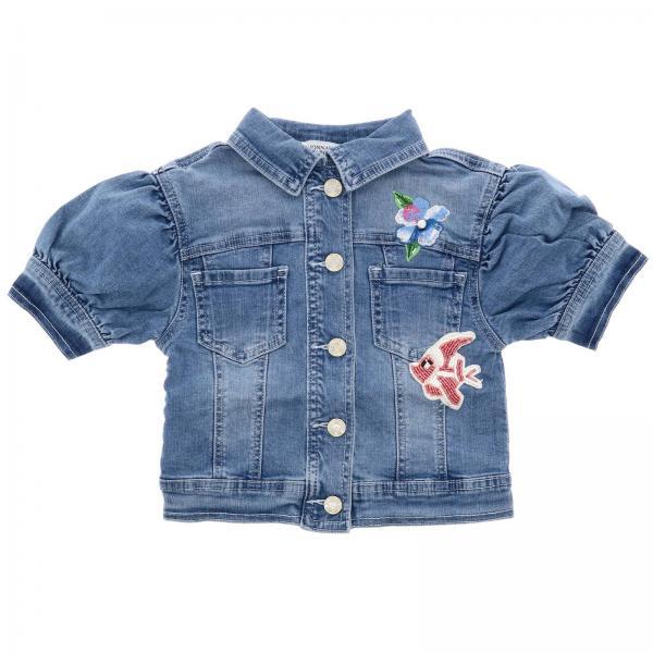 best service 93f8f 2ad24 Giacca monnalisa di jeans a maniche corte con patch della sirenetta