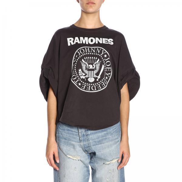 Primavera R13w3870giglio Negro verano 2019 Mujer Camiseta R13 wqIxn7TF