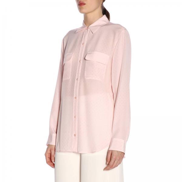 Signature Camicia Maniche Lunghe RosaBasic 184003356 Fantasia Micro E035 Equipment Donna A Con 5cq3R4AjL