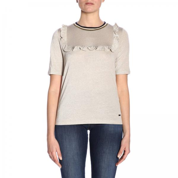 Fay verano Npwb2386240 2019 Gold Camiseta Qqdgiglio Primavera Mujer 58YAxtp