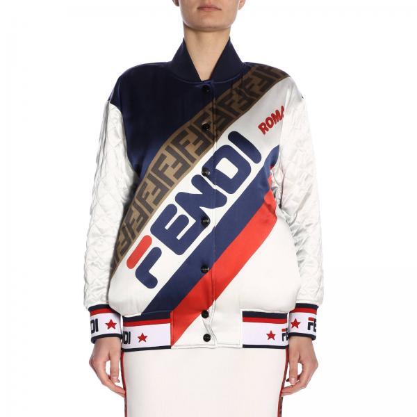 Farbbrillanz neueste art gute Textur Jacke für Damen Fendi