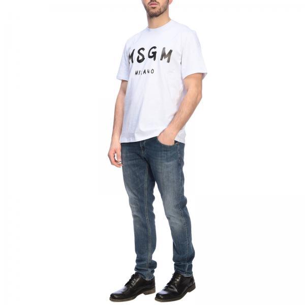 Corte Msgm Stampa shirt A Maxi T Maniche Con hsQrxCtdB