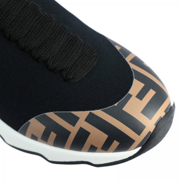 Fendi A Con Stringata Sneakers Ff Calza Monogramma mnN8Ov0w