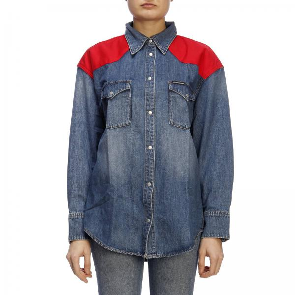 77166ee2a5 Camisa Mujer Calvin Klein Jeans Blue
