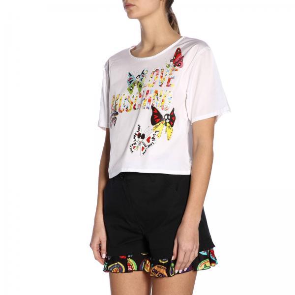 C2304 verano Camisa Primavera S3271giglio 2019 Mujer Moschino Blanco Love qx61wA