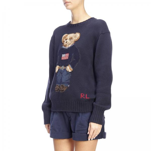 Orso Lauren Ralph Con Girocollo Ricamato A Pullover E Polo Logo wNvm80n