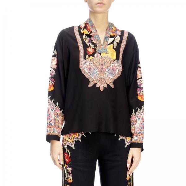 Primavera Etro 15005 2019 Camiseta 9663giglio Fantasía verano Mujer XHaqnTxw6