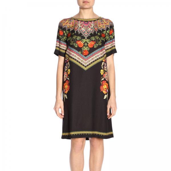 Vestido 2019 verano Primavera 9627giglio Negro Etro Mujer 14842 AOqAZw