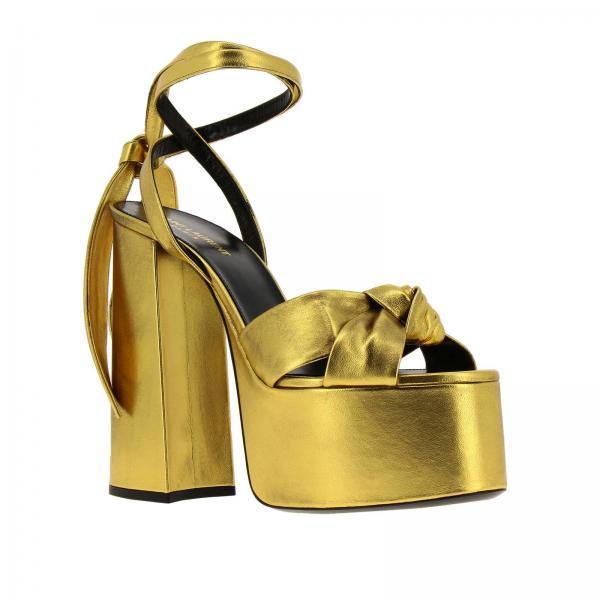 Laurent Primavera Saint 2019 Tacón verano 0xq00giglio 565568 Sandalias Mujer Gold De a1PKqWfScI