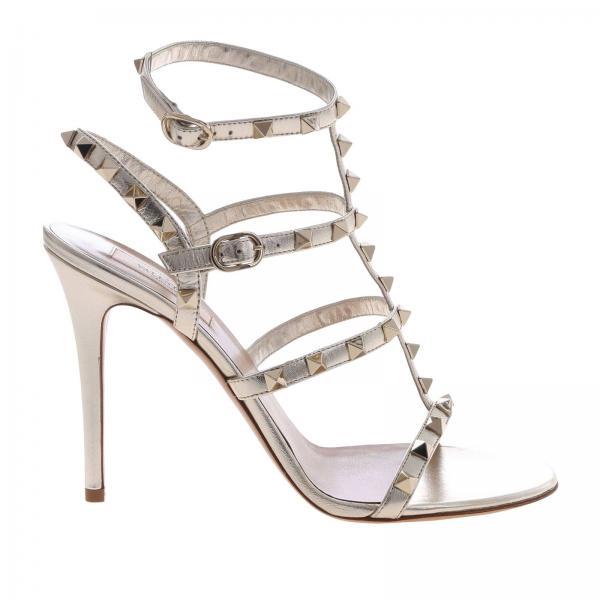 高跟凉鞋 女士 Valentino Rockstud ankle strap