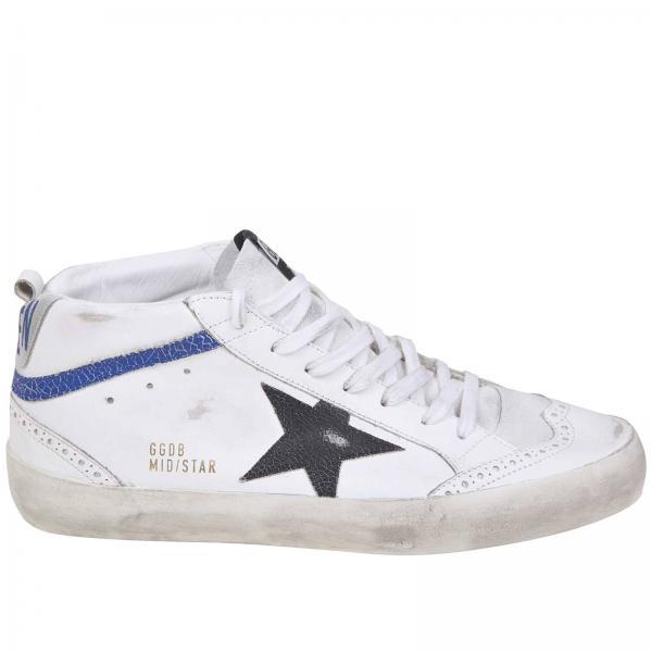 Brogue Sneakers E Con Used Pelle Goose Camoscio Motivo In Golden zpqUSVM