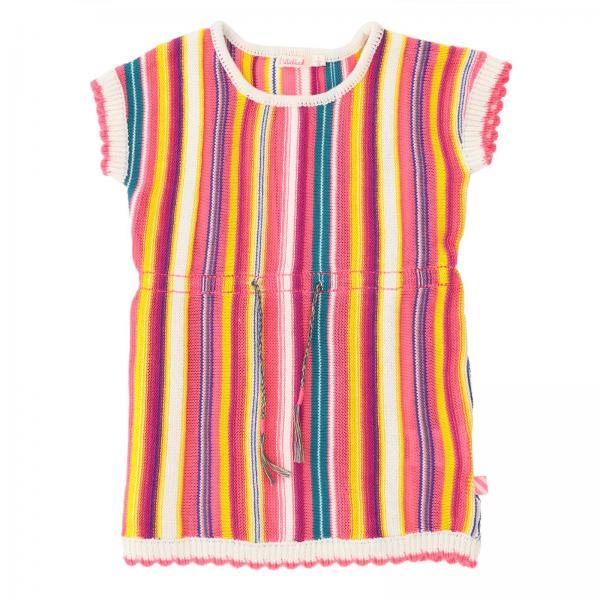 Abito Billieblush in maglia a righe multicolor con coulisse