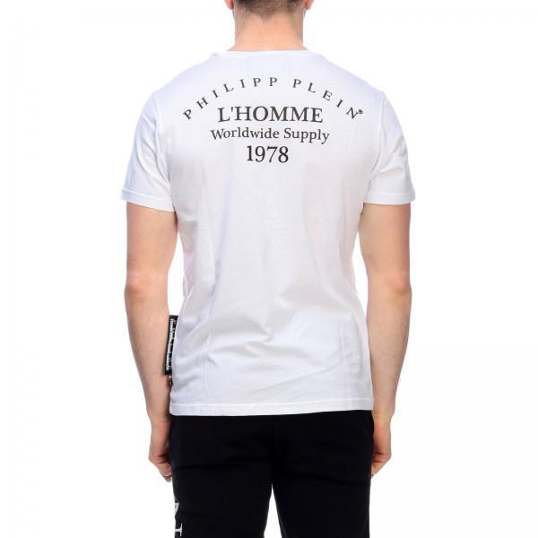Pjy002ngiglio Primavera Mtk3110 Philipp Plein verano 2019 Hombre Blanco Camiseta qH6fwx