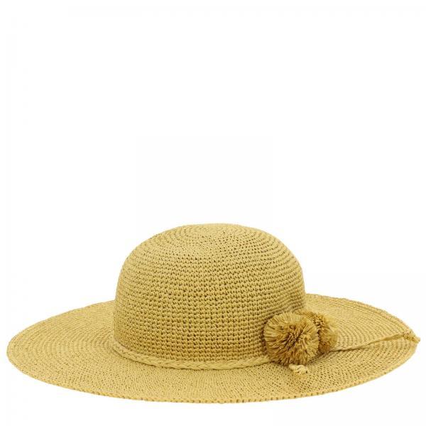 Cappello Lili Gaufrette con maxi pompon in rafia