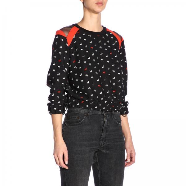 Primavera verano Camisa Negro 2019 1g13wy Mujer Pinko 7367giglio nWqXrfYqx
