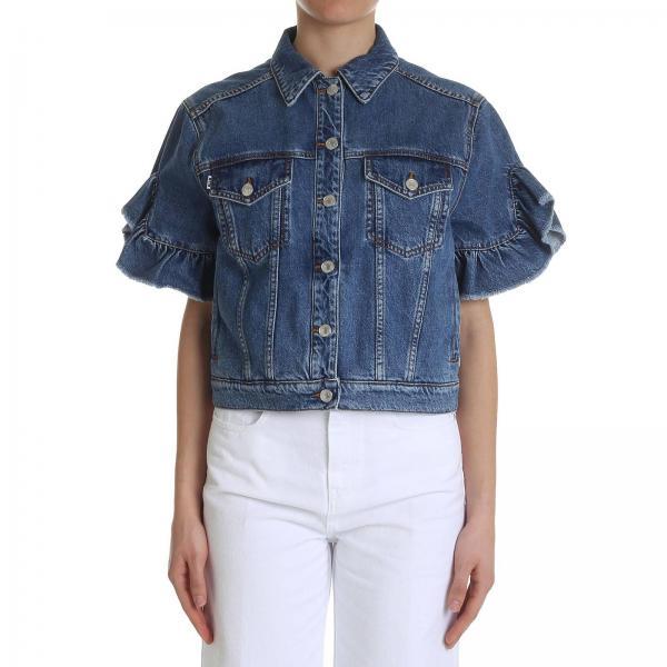 Jeans A Giubbotto Corte Used Di Msgm Effetto Maniche UzqVMSpG