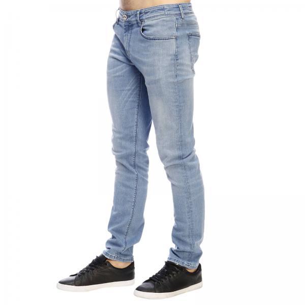 P015 hash 2777 Jeans Con Tasche Bassa BlueA Effetto Used 5 Stretch Uomo Vita Re Ygvbf6y7
