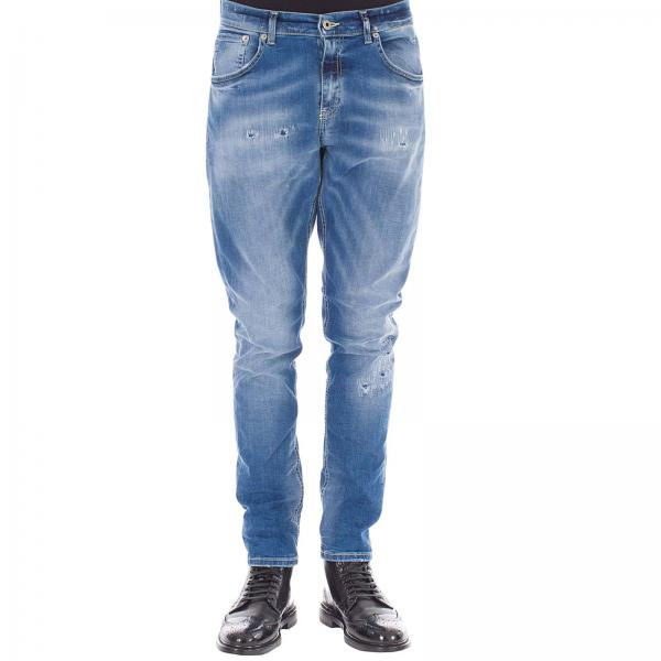 Jeans Uomo Ds169 Denim Used Dondup Tasche Con Up524 NeroA 5 Stretch In Rotture NnPwkO08X